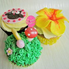 Nature cupcake collection from The Manchester Cakehouse!