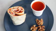 Wrap minute : poulet, carottes et noix…