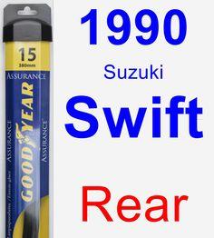 Rear Wiper Blade for 1990 Suzuki Swift - Assurance