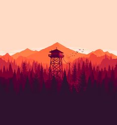 Firewatch features a beautiful low-poly world based on art by British illustrator Olly Moss.
