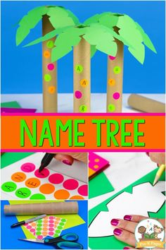 Letter Tree Name Recognition Activity. This hands-on letter tree name recognition activity is super fun and it's also quick and easy to make. Your kids will have a blast adding the letters of their name to their very own letter tree! Teaching The Alphabet, Alphabet For Kids, Learning Letters, Alphabet Letters, Name Activities Preschool, Preschool Letters, Preschool Activities, Letter Recognition Games, Pre K Worksheets