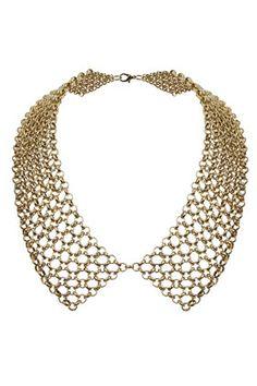 Mesh Bib Collar Necklace