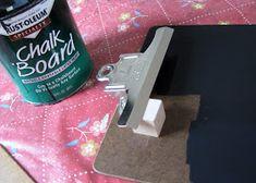 Chalkboard clipboards diy