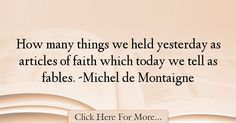 Michel de Montaigne Quotes About Faith - 19295