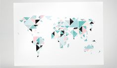 Wanderlust meets style - this map is not only for hipsters. With high-end stamped styling, great colors and a velvety matte finish, this map looks great anywhere. The Triangle Map is an abstract take on a world map, created specifically for design-focused folks who want an elevated art piece with a touch of whimsy.