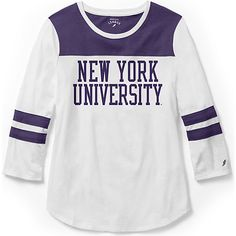 622233fa18af League New York University Women s Slim Fit 3 4 Length Sleeve T-Shirt  44.00
