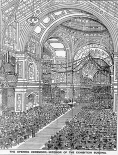 Artist's drawing of the interior of the Exhibition Building Melbourne Australia on Federation Day.The Age newspaper Melbourne Victoria, Victoria Australia, Melbourne Activities, Federation Of Australia, Melbourne Suburbs, Exhibition Building, Botany Bay, Broken Promises, Aussies
