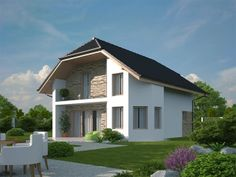 pohled domu Pavla 10A Modern Villa Design, Classic House Design, House Design Photos, House Front Design, Architectural House Plans, Home Fashion, Home Deco, Home Projects, Interior And Exterior