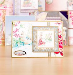 Gorgeous oriental themed greeting card from the @hunkydorycrafts Eastern Treasure Luxury Card Collection. Click 'Visit Site' above to shop now. / Cardmaking / Papercraft / Scrapbooking