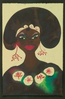 Chris Ofili | Watercolour and pencil on paper, 9 3/5 x 6 1/5 in.