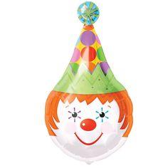 Clown Shaped Foil Balloon