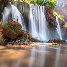 """tripstirapp: """"Today's travel theme is waterfalls. Your first thought might be Niagara? While that place is stunning we want to expand your horizons to other waterfall wonders. Tripstir recommends you check out Havasupai Indian Reservation on your next trip!  @tiffpenguin #waterfalls #havasupai #indian #reservation #nature #wonder #travel #discover #explore #sacredwater #nativeamerican #arizona #america #destinationnext"""""""