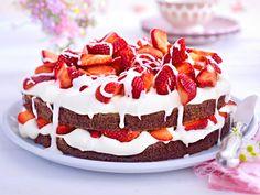 Erdbeertorte - einfach himmlisch!  - erdbeer-brownie-torte  Rezept
