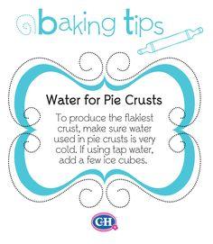 Flaky Pie Crusts #CHSugar #BakingTips