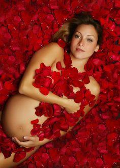 Maternity Photography lol American Beauty style