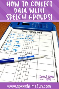 how to collect data with speech groups - free data form for group speech therapy