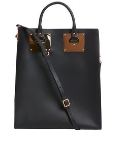 Sophie Hulme - Black Brass Buckle Structured Leather Tote Bag