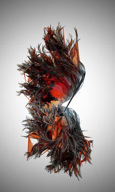 Gestrüpp 1 by depotVisuals. 3d Fantasy, Generative Art, 3d Prints, Art Graphique, Motion Design, Design Reference, Digital Illustration, Sculpture Art, Sculptures