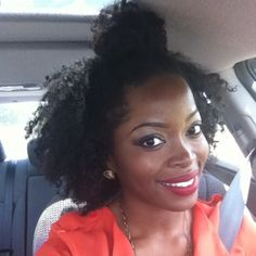 Half up / Half down natural hair style @msnaturallymary