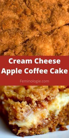 Deserts With Cream Cheese, Healthy Cream Cheese, Cream Cheese Coffee Cake, Cream Cheese Recipes, Deserts With Apples, Apple Deserts, Apple Dessert Recipes, Dump Cake Recipes, Apple Recipes