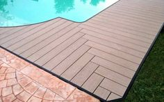 nice pool with decking WPC herum.