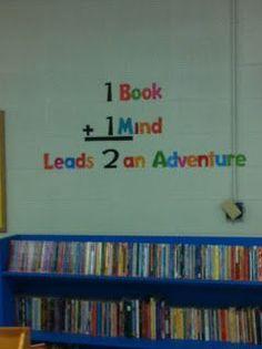 Library Bulletin Board 1 Book Mind Leads 2 An Adventure Elementary School