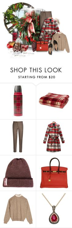 """Brown and Red Winterberries"" by maison-de-forgeron ❤ liked on Polyvore featuring Madewell, WithChic, adidas, Hermès, Y/Project, Effy Jewelry and Abercrombie & Fitch"
