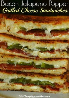 These Bacon & Jalapeno Popper Grilled Cheese Sandwiches are a delicious twist on the classic grilled cheese. A word of warning though; they are addictive! My FAVORITE grilled cheese!!