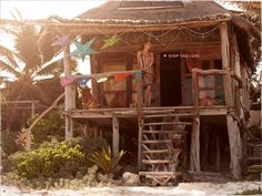 Shack/paradise on the beach ~ I truly think I could live like Gilligan !