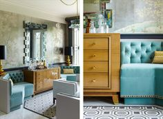 beautiful mix of color, textile, patterns...Mendelson Group : SCARSDALE SHOWHOUSE