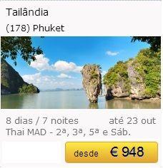 Tailândia - Phuket €948