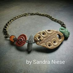 Beach Retreat | by Sandra Niese, polymer clay necklace with ultralight blended with Premo