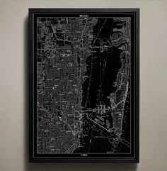 Map Print, MIAMI from Map Prints by GeoArtShed