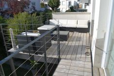 Terrasse sur pilotis + passerelle