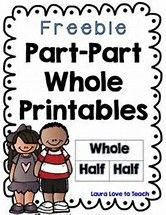 I created 2 free Part Part Whole Worksheets that has the students filling in the missing number and writing down the addition sentence that is asso. Math Classroom, Kindergarten Math, Teaching Math, Teaching Tools, Teaching Ideas, Math Tools, Teaching Numbers, Math Strategies, Math Resources