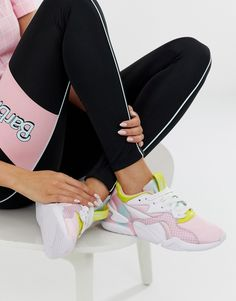 Buy Puma X Barbie Nova block multi colour trainers at ASOS. With free delivery and return options (Ts&Cs apply), online shopping has never been so easy. Get the latest trends with ASOS now. Adidas Gazelle, Multi Coloured Trainers, Rothys Shoes, Shoes Style, Top Shoes, Asos, Colorful Sneakers, Christmas Shoes, Barbie Shoes