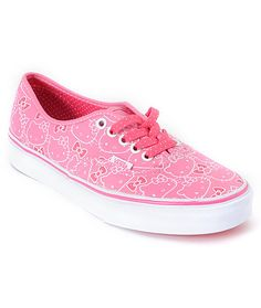 b2af0d4875 Hello Kitty Vans Hawaiian Pink Authentic Shoes