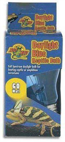 Zoo Med Daylight Blue Incandescent Reptile Bulb 60 Watts Full spectrum daylight. Heat source plus UVA. True blue glass.
