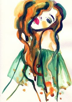 Lady Face Painting from $34.99   www.wallartprints.com.au #WatercolourPainting
