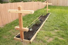 Raspberry Patch with Custom Trellis - by ThorinOakenshield @ LumberJocks.com ~ woodworking community