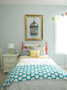 Cute girls room with lots and lots of DIY indeas!  Adorable.  Check out http://lessthanperfectlifeofbliss.blogspot.com  Tons of great DIY ideas!