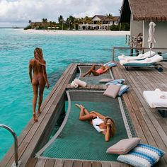 """3,949 Likes, 39 Comments - Bikinis.Travel.Fashion (@bikinisonshow) on Instagram: """"@brookehogan1 -  Doesn't get much better than this view @fsmaldives """""""