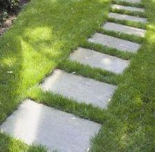 Plain, rectangular stepping stones