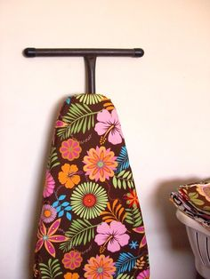 Ironing Board Cover with a FREE IRON CORD tie in matching tropical orange blue and green retro flowers Patchwork Quilting, Quilts, Ironing Board Covers, Iron Board, Retro Flowers, Tool Organization, Cord, Diva, Tropical