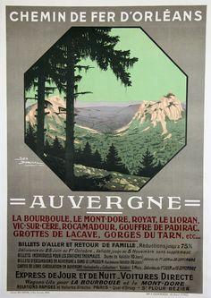 Auvergne - France - illustration de Geo Dorival - 1910 -