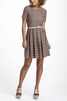 So cute for a bridesmaid: Scalloped Stripes Dress >> Anthropologie.com