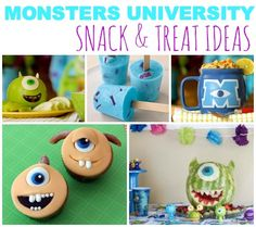 baby shower with monster inc | Monsters University Snack & Treat Ideas For The Summer! | Disney Baby