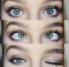 Greenish-blue eyes