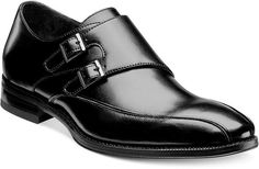 $90, Black Leather Double Monks: Stacy Adams Kildaire Monk Strap Shoes. Sold by Macy's. Click for more info: https://lookastic.com/men/shop_items/91248/redirect