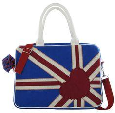 Irregular Choice Blue Patty Union Jack Laptop Bag ICPAT03 RRP £43.95 Brand NEW